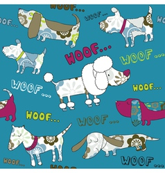 Background with dogs vector image