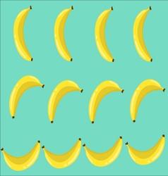 Bananas Seamless pattern with bananas vector image