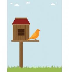 bird house vector image