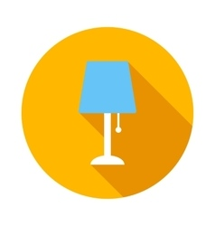 Blue table lamp icon in flat style vector