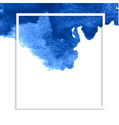 Blue watercolor stain banner vector