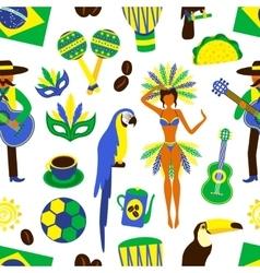 Brazil seamless pattern vector image