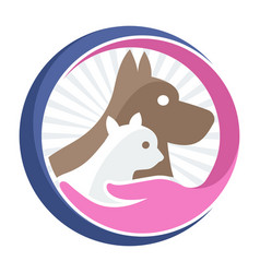Business logo icon for pet shop pet care vector
