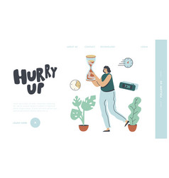 business working process organization landing page vector image