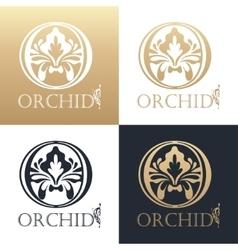 Calligraphic design element Golden logo vector