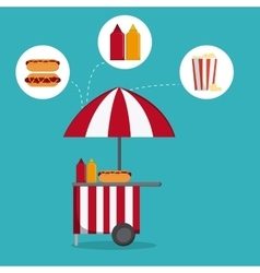 Circus food design vector