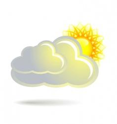 Cloud and sun vector