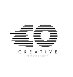 Co c o zebra letter logo design with black and vector