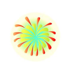 Colorful firework at brazil festival carnival in vector