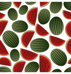 Colorful melon fruits and half fruits seamless vector
