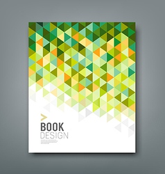 Cover report green triangle geometric pattern vector image