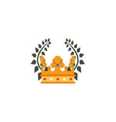 Crown emblem antique medieval flat design vector