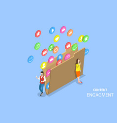Customer engagement strategy isometric flat vector