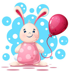 cute funny pretty beautiful rabbit character vector image