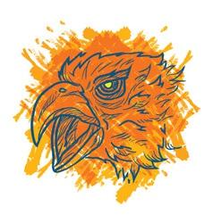 Eagle Art Fire vector image