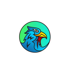 eagle bird logo vector image
