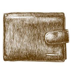 Engraving of wallet vector