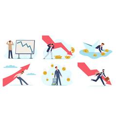 Financial crisis global economic problem vector