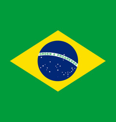 Flag of brazil in national colors vector