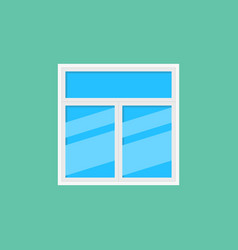 flat window icon or design element vector image