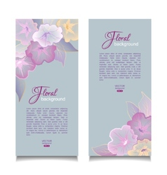 Floral Banners Transparent Flowers vector image