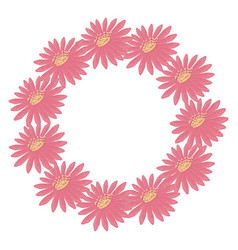 floral wreath flowers decoration natural vector image