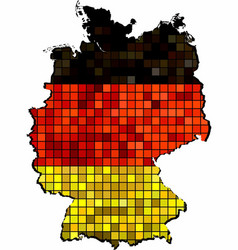 Germany map grunge mosaic vector