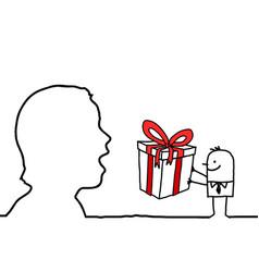 Gift surprise vector