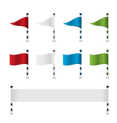 Golf flag and banner set vector image