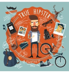 Hipster concept seal icon vector image