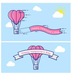 Hot love balloon valentine vector