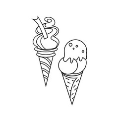 ice-cream icon character 03 vector image