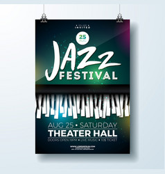 jazz music festival flyer design with piano vector image