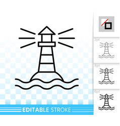 Lighthouse simple thin line navigation icon vector