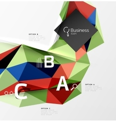 Low poly polygonal triangle abstract background vector image