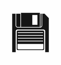 Magnetic diskette icon simple style vector
