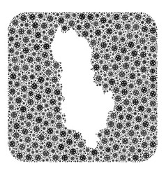 Map albania - flu virus mosaic with stencil vector