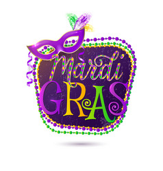 Mardi Gras holiday greeting vector