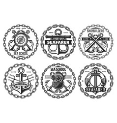 Maritime navy fleet and nautical icons vector