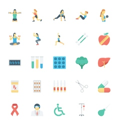 Medical and Health Colored Icons 7 vector