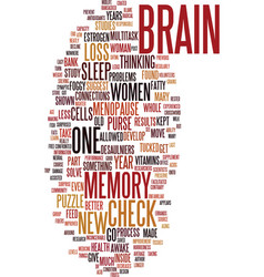 Memory and menopause text background word cloud vector