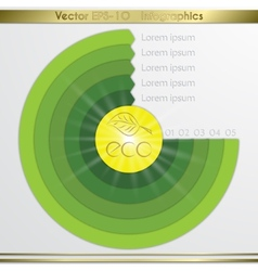 Modern circle diagram infographics elements vector image
