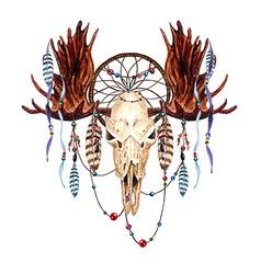 Moose skull4 vector image