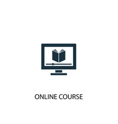 Online course icon simple element vector