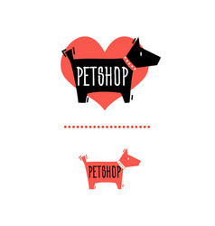 pet shop sign 2 vector image