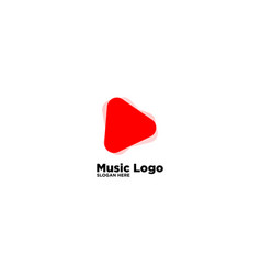 Play music and media logo design template vector