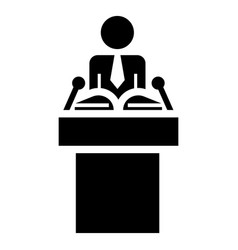 political speaker icon simple style vector image