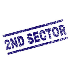 Scratched textured 2nd sector stamp seal vector