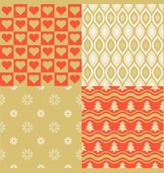 seamless pattern elegant wallpaper vector image