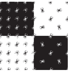 Seamless patterns with spiders vector